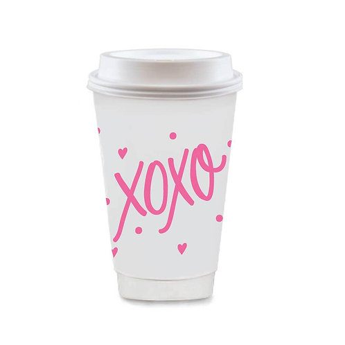 To-Go Coffee Cups XOXO