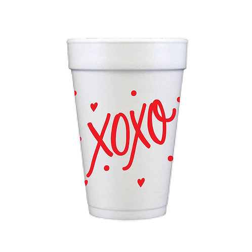 Foam cups- XOXO