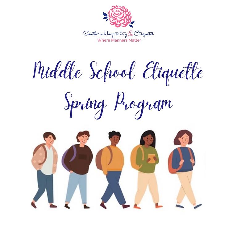 Middle School Spring Program