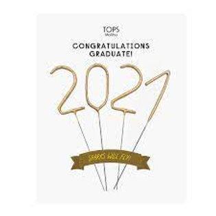 "2021 Graduation Sparkler Card 4"""