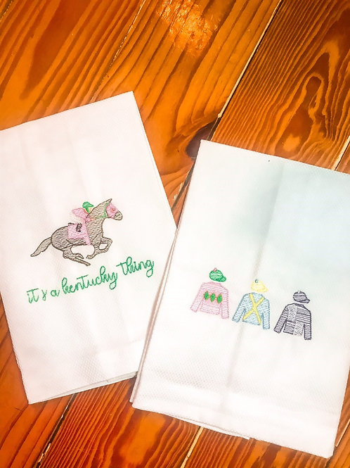 Day at the Races tea towels