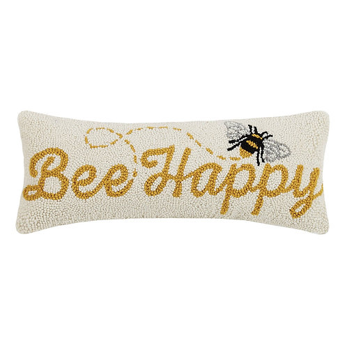 Bee Happy Hook Pillow