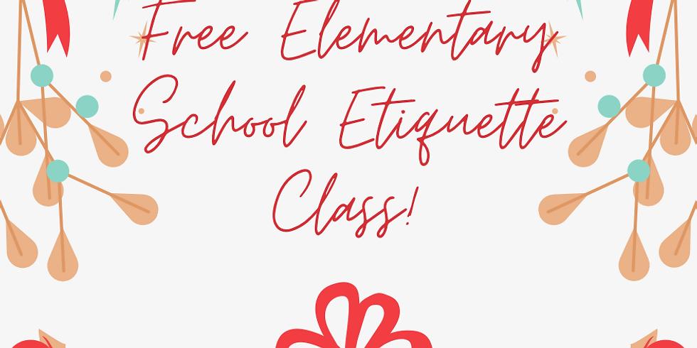 Free Elementary Etiquette Class