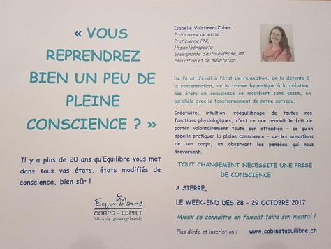 Un automne différent - développement personnel à Sierre les 28 et 29 octobre 2017