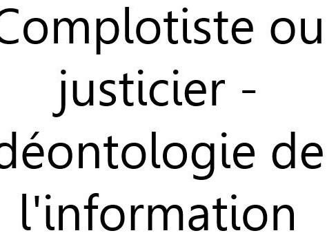 DEONTOLOGIE DE L'INFORMATION