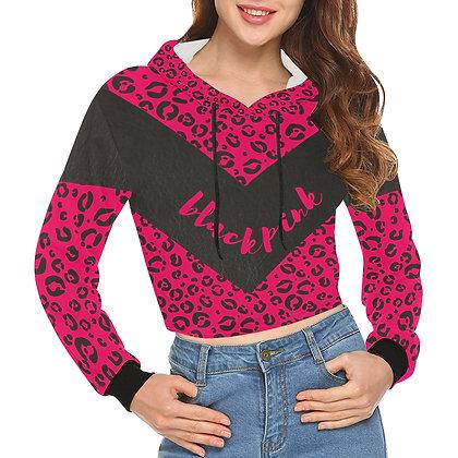 Blackpink Leopard - Crop Hoodie