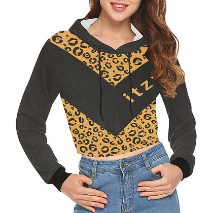 Itzy Leopard - Crop Hoodie
