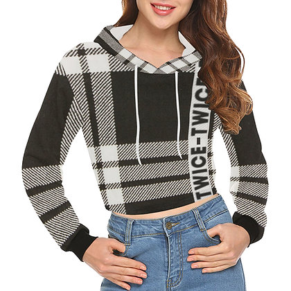 Twice Plaid - Crop Hoodie