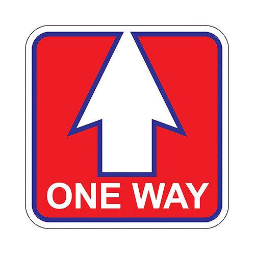 One Way Floor Graphic