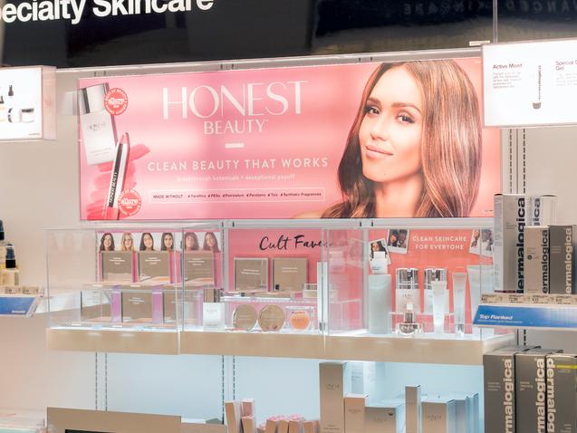 Target Cosmetic Retail Display