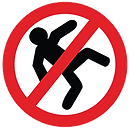 No Slip and Fall Floor Graphic