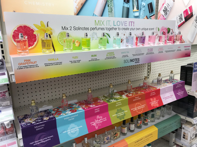 Target Perfume Displays