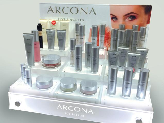 Illuminated Skincare Display