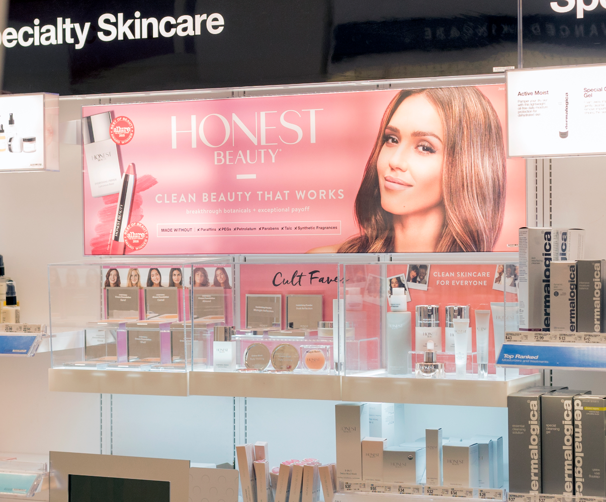 Custom Beauty Displays - Duratrans Back-lit Graphics - Retail Graphics - The Honest Company at Target