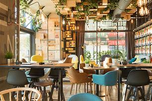 Interior of a modern urban restaurant in