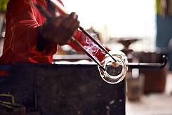Glass Blower Shaping Glass