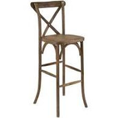 Walnut X Back Bar Stool