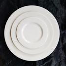 "White Ming China 10 1/2"" Dinner/ 8"" Salad/ 6"" B&B Plate"
