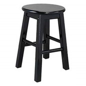 Kids Black Stool