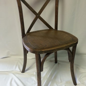 Walnut X Back Dining Chair