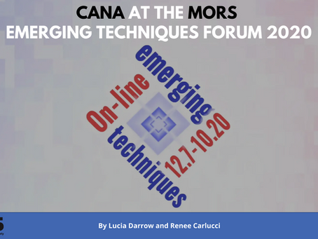 CANA at the MORS Emerging Techniques Forum 2020