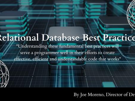 Relational Database Best Practices
