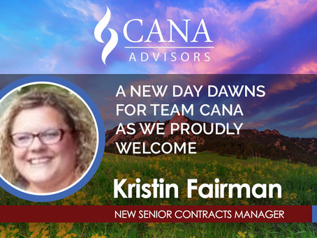 Welcome Aboard Our Newest CANA Member, Kristin Fairman!