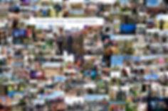 Patchwork de 160 images - 1m x 1m50