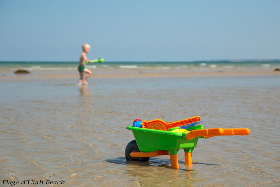 Jeux d'enfants Utah Beach