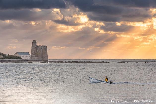 Le pêcheur et l'île Tatihou