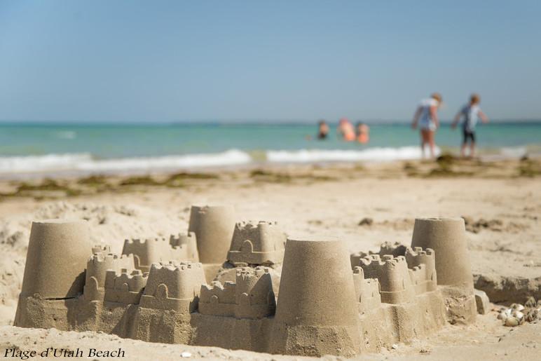 Chateau de sable Utah Beach