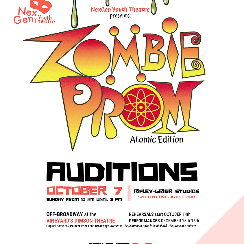 AUDITIONS: Zombie Prom: Atomic Edition Off-Broadway