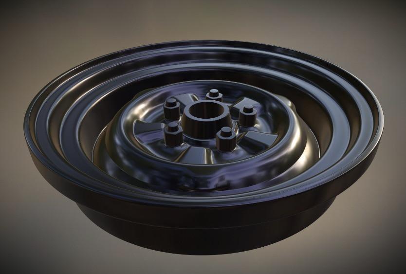 3D Steel Rim for Model Car