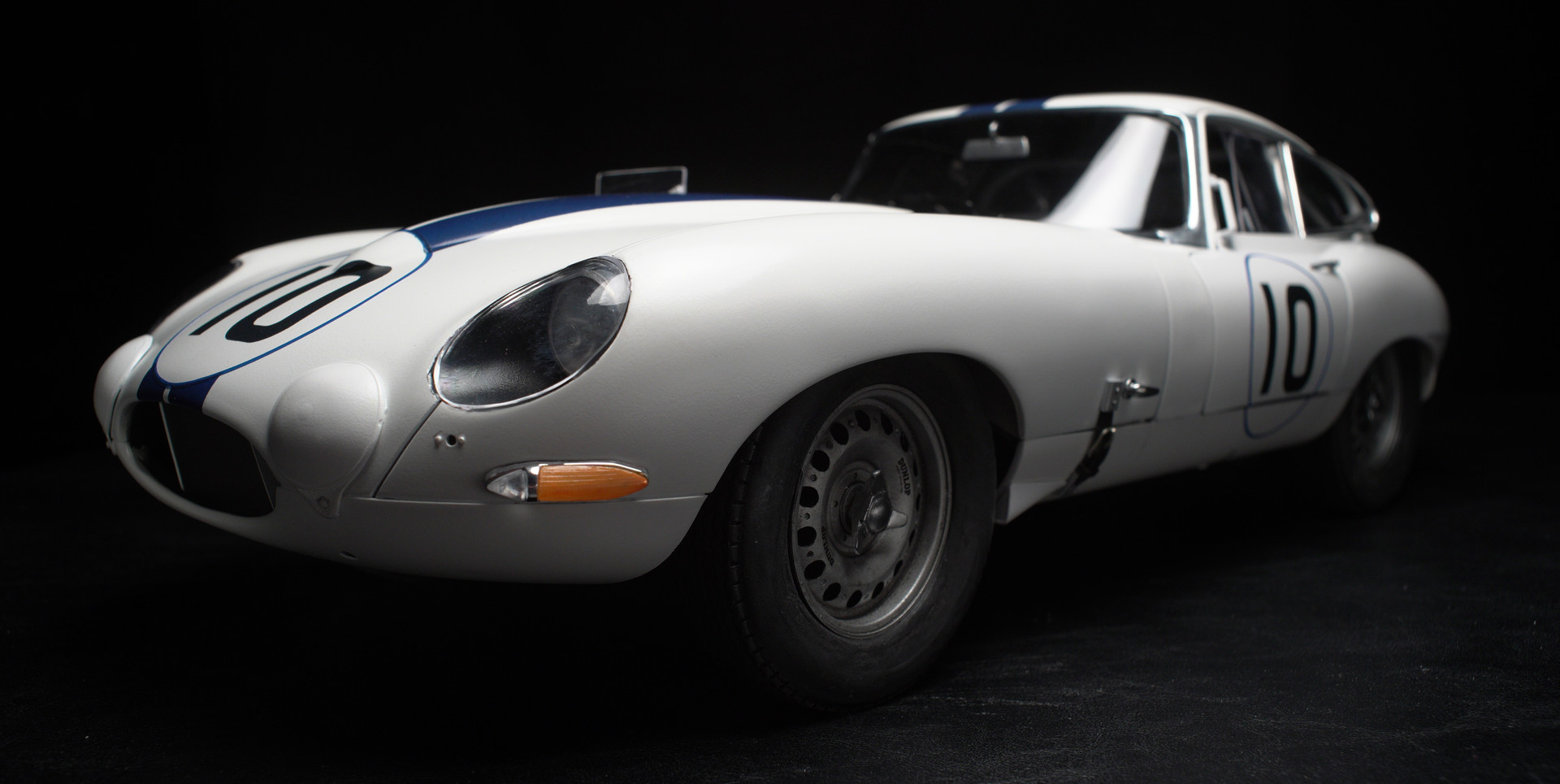 1:8 Scale Briggs Cunningham Jaguar E-Type Racing Coupe