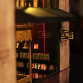 Battery Park Book Exchange Diorama - Front Window Close Up