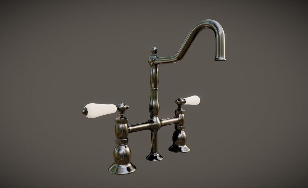 3D Kitchen Sink Fixture