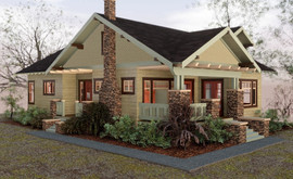 3D Craftsman Bungalow House