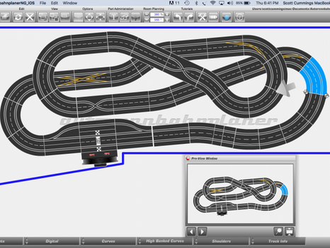 1:32 Scale Carrera Slot Car Track Layout