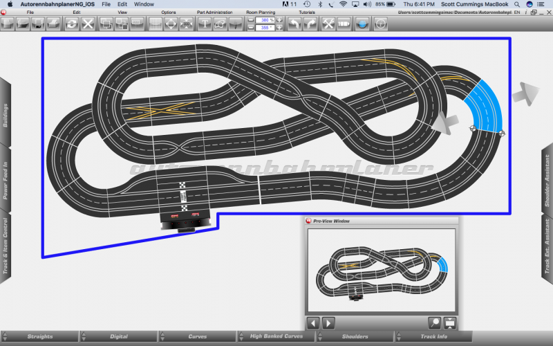 Planned layout for Track