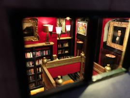 Battery Park Book Exchange Diorama - Top of Window