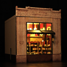 Battery Park Book Exchange Diorama - Front View