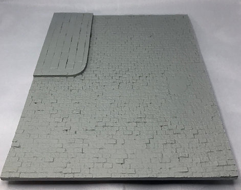 Cobblestone Street Type 1 w/sidewalk and sewer cover 1/35th Scale
