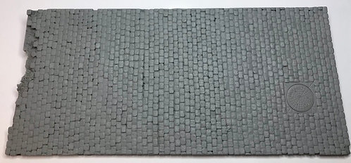 European Theater Cobblestone Street Section with separate manhole cover
