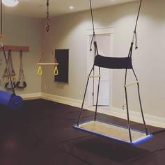 An elite basement sensory gym