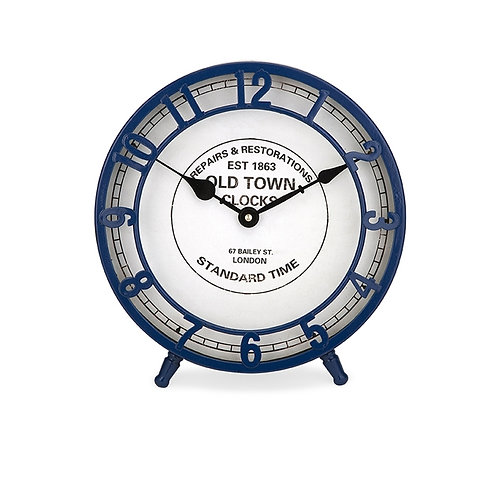 Essentials Marine Blue Desk Clock