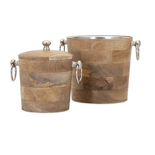 JWB Wood Bar Buckets, set of 2