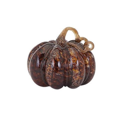 Fall Harvest Carmel Glass Pumpkin
