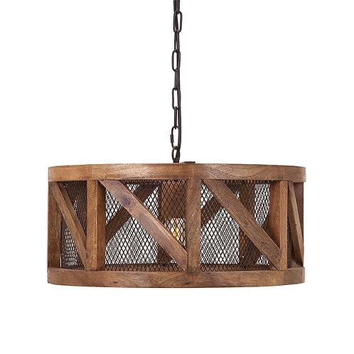 JWB Industrial Wood Pendant