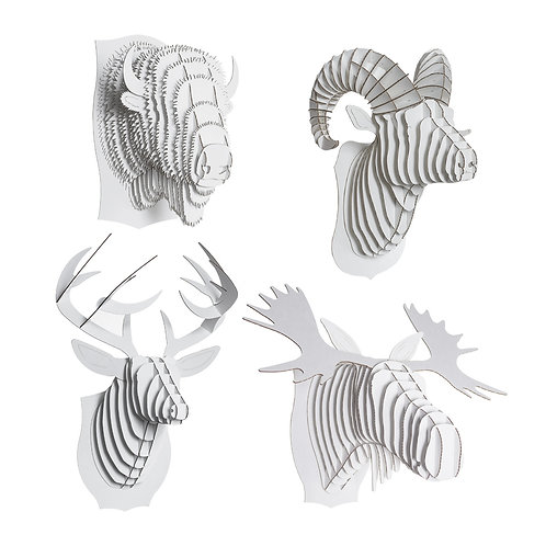 North American Animals Set - Small - White