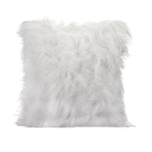 Nikki Chu White Faux Fur Pillow